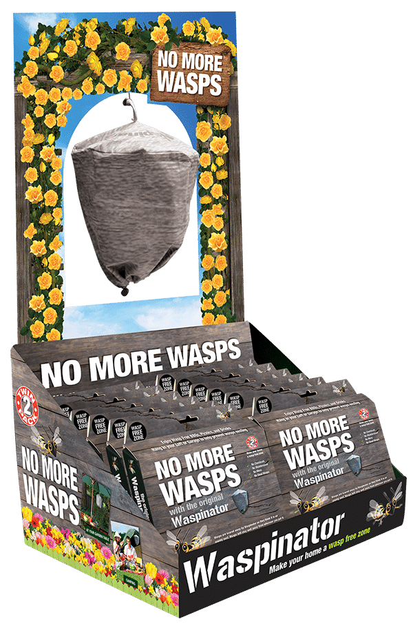 Counter top display unit for Waspinator wasp repellent